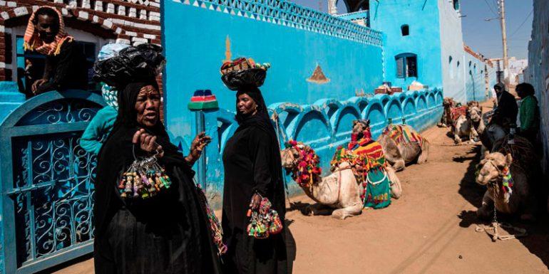 Alto Egipto nubios aldea Asuán lengua