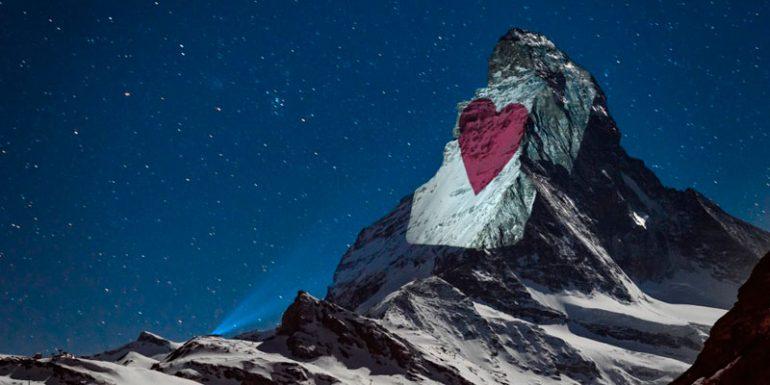 Zermatt Suiza Cervino Matterhorn montaña mensaje