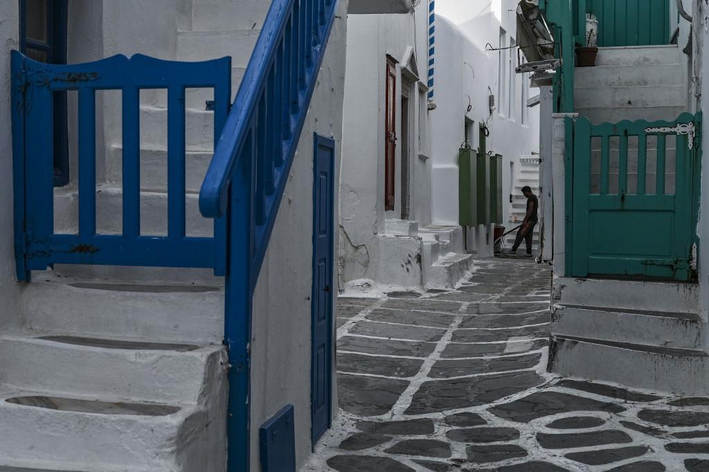 Miconos Pandemia isla griega Grecia