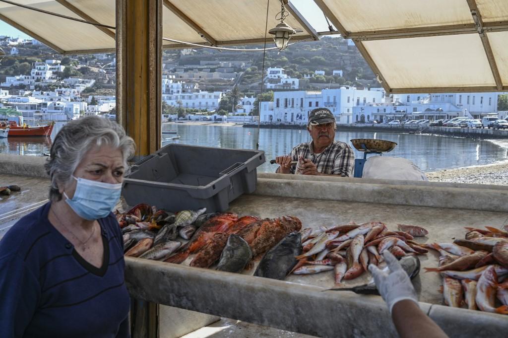 isla griega Grecia pescado