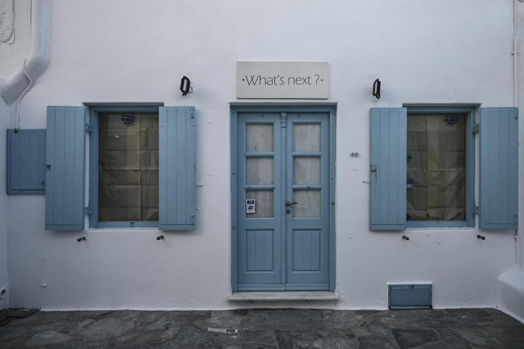tienda cerrada Grecia isla griega