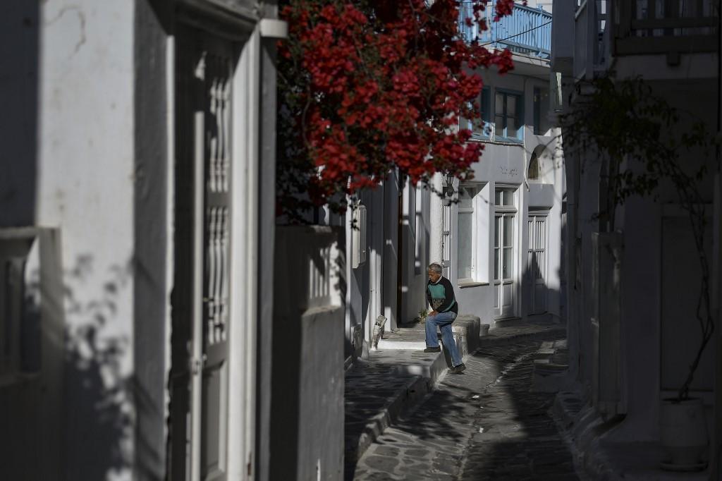 isla griega callejones Miconos