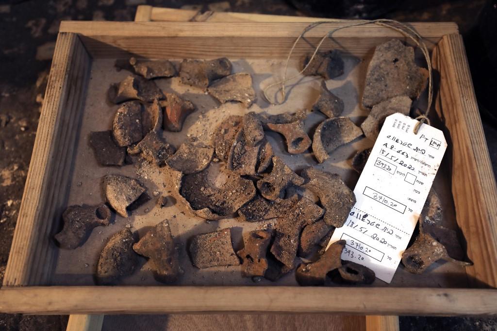 cerámica lámparas de aceite judío Israel