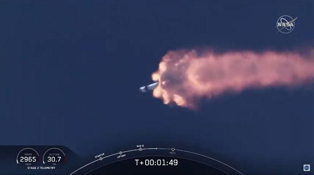 Crew Dragon Falcon 9 despegue NASA SpaceX