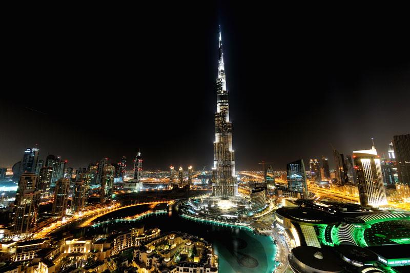 Burj Khalifa Dubái Coronavirus