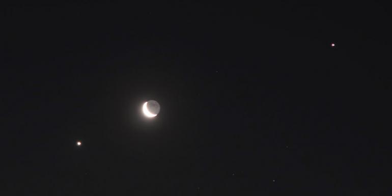 Júpiter Saturno Marte Luna conjunción