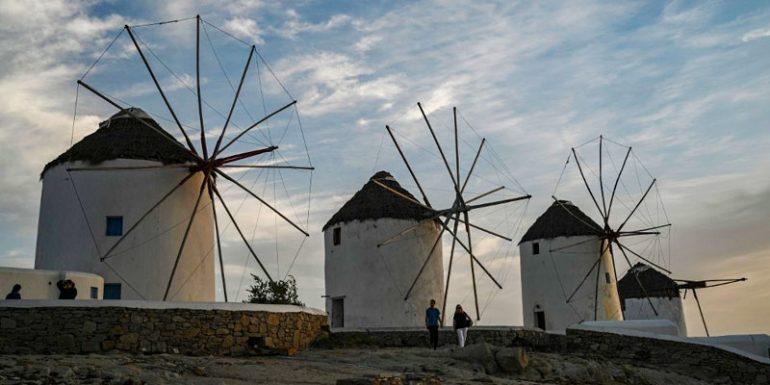 Mikonos Grecia isla vacía pandemia