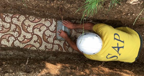 mosaicos romanos Italia Verona viñedo