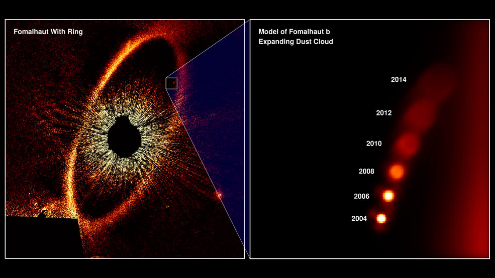 NASA planeta exoplaneta Fomalhaut estrella