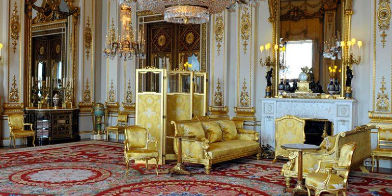 """Londres Palacio de Buckingham """"Sala de Dibujo Blanca"""""""
