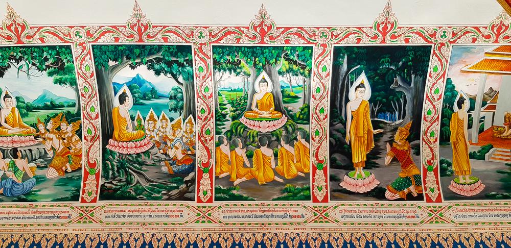 fresco de Buda