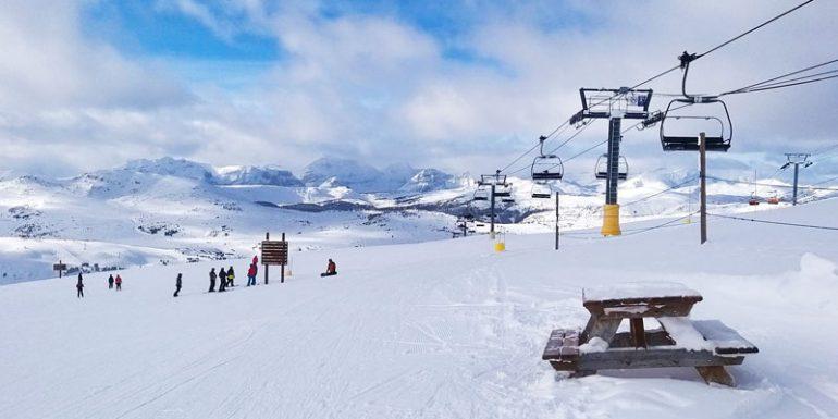 Banff Sunshine Village Alberta esquiar Canadá