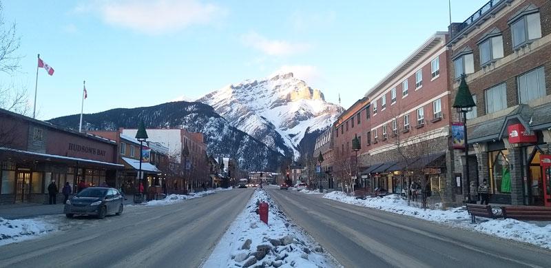 ciudad de Banff montañas Alberta Canadá