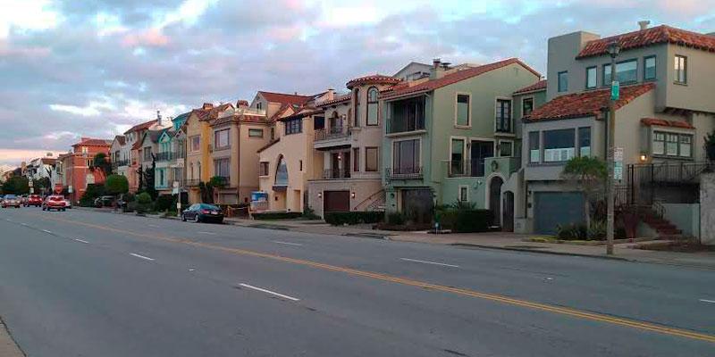 Marina Boulevard San Francisco casas fachada
