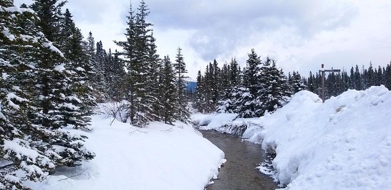 Banff Canadá río Lake Louis invierno