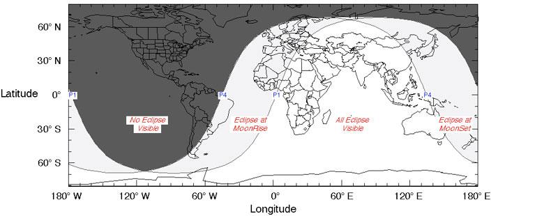 eclipse penumbral de Luna junio 5