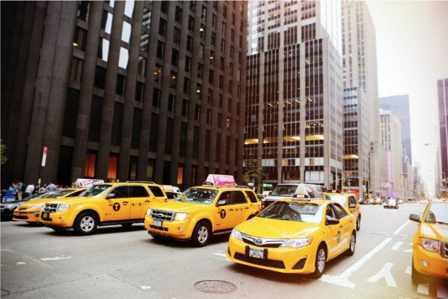 Taxis de Nueva York (yellow cabs)