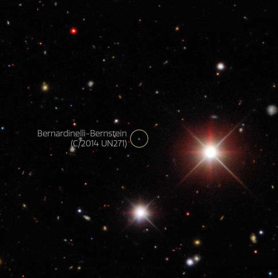 fotografía de cometa bernardinelli bernstein