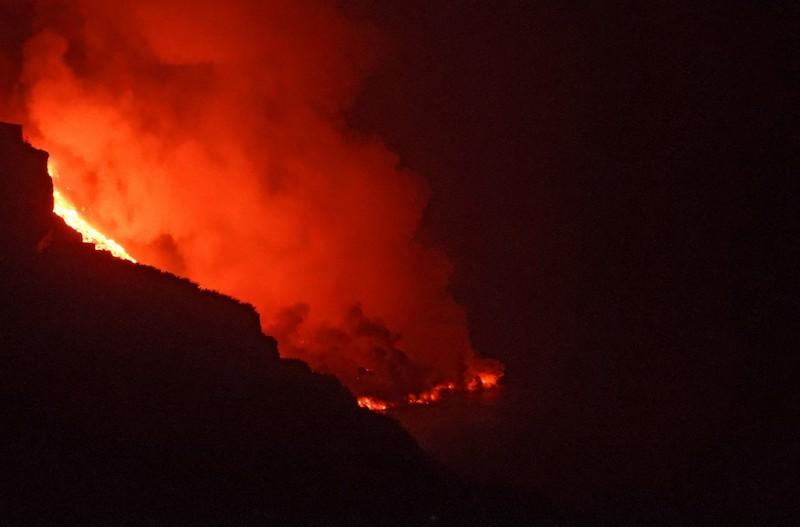 volcán La Palma lava