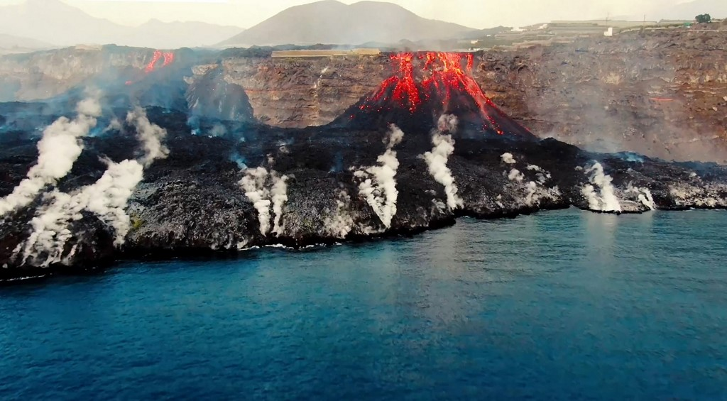 Volcán La Palma dióxido de azufre